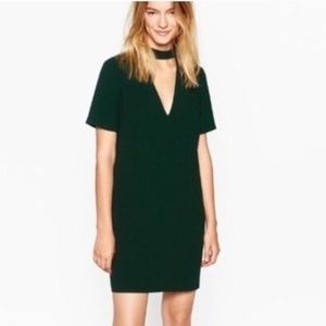 ZARA FORREST GREEN V NECK DRESS